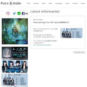 PassCode Zepp Tour 2021 東京(追加)