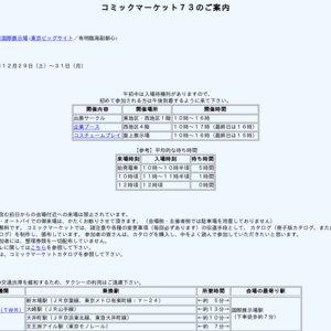 コミックマーケット73(1日目)