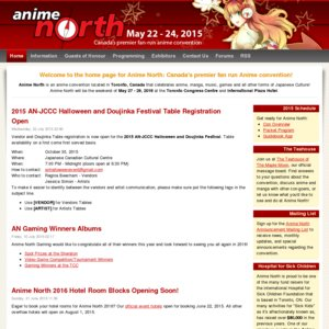 Anime North 2015 Sunday