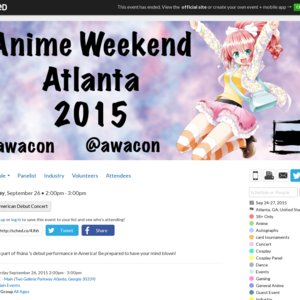 fhána American Debut Concert (Anime Weekend Atlanta)