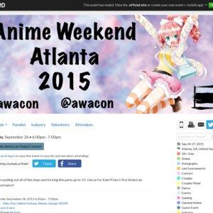 Kato*Fuku American Debut Concert (Anime Weekend Atlanta)