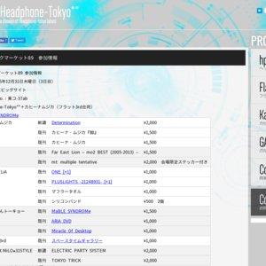 コミックマーケット89 東コ-37ab  Headphone-Tokyo**+カヒーナムジカ(フラット3rd合同)GARNiDELiA販売会
