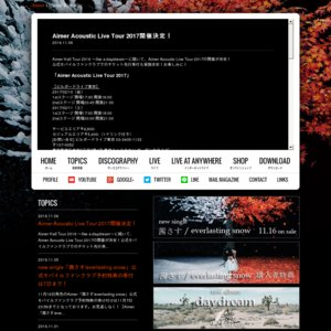 Aimer Acoustic Live Tour 2017 名古屋(1st stage)