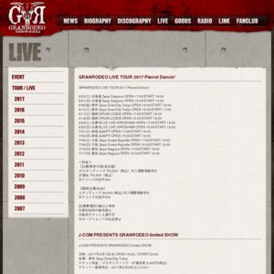 GRANRODEO LIVE TOUR 2017 Pierrot Dancin' 広島公演2日目