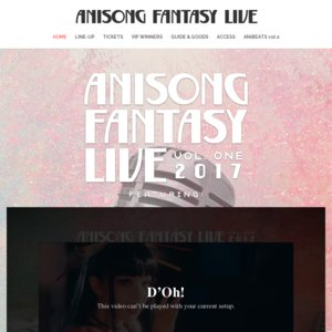 Anisong Fantasy Live 2017 香港