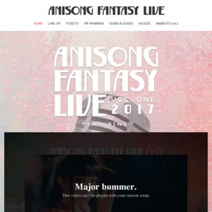 Anisong Fantasy Live 2017 シンガポール