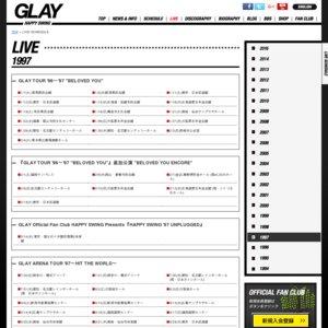 GLAY ARENA TOUR '97〜HIT THE WORLD〜(日本武道館  2日目)