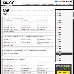 GLAY ARENA TOUR '97〜HIT THE WORLD September〜 at Yoyogidaiichitaiikukan(1日目)