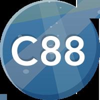 イベンターノートC88ブース来場記念バッジ